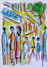TERRASSE à PARIS  modern art oil painting