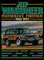 WAGONEER JEEP GRAND BOOK PORTFOLIO PERFORMANCE 63-91