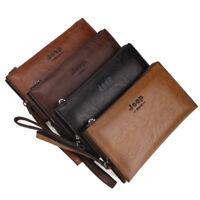 Jeep Business Men Double Wallet Male Vintage Handbag PU Leather Purse Money  Bag 2c532ebea38