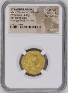 Maur.Tiberius, AD 582-602 BYZANTINE EMPIRE AV Solidus 5780232/3