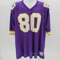 Vintage Champion Chris Carter #80 Purple Minnesota Vikings Jersey Men's XL