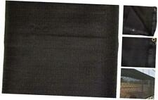 Heavy Duty Black Knitted Mesh Tarp with Grommets 60-70% Shade 16 Ft. X 24 Ft.