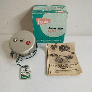 VTG Heddon 11 Automatic Fly Fishing Reel In Box With Instruction & Parts Manual