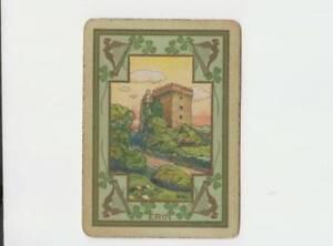 A81  Vintage Swap Card   Wide  USWN ERIN Irish castle