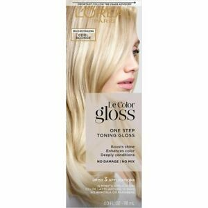 L'Oreal One Step Toning Hair Gloss Cool Blonde Brass Neutralizing 3 Applications