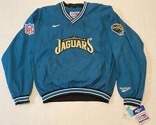 VTG Jacksonville Jaguars Reebok NFL Pro Line SZ L Jacket  Pullover RARE! NWT!