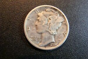 Mercury Dime 1921-d Silver