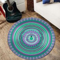 Mandala Flower Modern Round Floor Mat Room Area Rug Yoga Carpet Home Decor -)