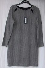 LADIES MARKS AND SPENCER LIMITED BLACK MIX PATTERNED LONG SLEEVE DRESS SIZE 14