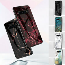 Fr Samsung Galaxy Note 10 Pro/S8/S9/S10 Marble Skin Tempered Glass Back TPU Case