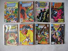 49 JUSTICE LEAGUE OF AMERICA AND TEEN TITANS COMICS: BRONZE TO COPPER AGE LOT