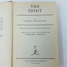 VINTAGE The Idiot By Fyodor Dostoevsky Modern Library Illustrated 1935 Edition
