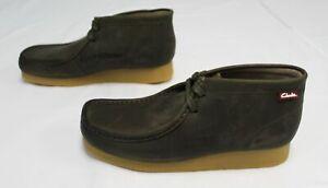 Clarks Originals Men's Stinson HI Leather Boots FR7 Olive Green Size US:7.5