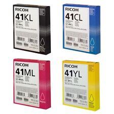 Ricoh GC-41KL/CL/ML/YL Gel Patronen Sparset Value Pack Schwarz/Cyan/Magenta/Gelb