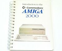 Amiga Introduction Commodore 2000 Manual Book Electronics Paperback Spiral 1987