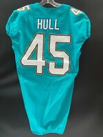 #45 MIKE HULL MIAMI DOLPHINS GAME USED AUTHENTIC NIKE JERSEY YR-2017 PENN STATE