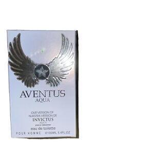 AVENTUS AQUA  By Eurolux for Men EAU DE TOILETTE De Toilette 3.4oz