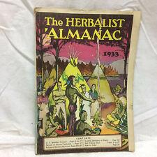 Vintage 1933 The Herbalist Almanac