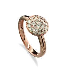 BRILLIANT RING 0,62 Carat 750 Red Gold Value New (39782)