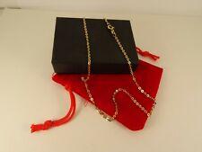 "Ladies Boys Girls Short 16"" 9ct Gold BELCHER Chain Necklace Hm 1972 2.3gr 139c"