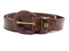 Aigner Vintage Cintura in Pelle Marrone da Donna Taglia S