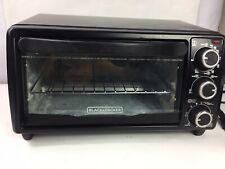 BLACK & DECKER TO1313B 4-Slice Toaster Oven Black Broil Bake Toast Easy Controls
