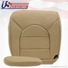 2000 Ford F-250 F350 Diesel 4x4 Driver Bottom Leather Seat Cover & Armrest Tan