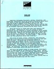 Vintage Original 1992 Third Eye Australian Techno Promo Sheet 2pgs Onesided