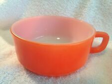Vtg Orange Fire King Anchor Hocking Handled Soup Bowl or Oversized Mug