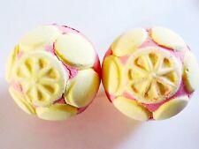 Lush Cosmetics UK Lot 2x MARMALADE JELLY BOMB BATH BOMB Citrus Candy Jelly Water