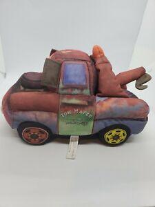 Mattel Disney Pixar Cars Talking & Joking Tow Mater Soft Plush Tow Truck Works
