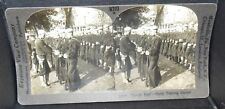 ANTIQUE WWI KEYSTONE STEREOVIEW SAILORS PARADE REST NAVAL TRAINING STATION