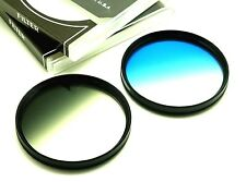 72mm Graduated Grey & Blue Filters Set For Canon Tamron Sony DSLR Lens & Others