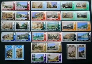 GIBRALTAR 1971: DECIMAL CURRENCY PAIRS: SET 16 PAIRS MNH STAMPS: LOT 1