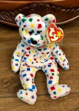 "TY Beanie Babie ""Ty 2K"" Millenium Plush Confetti Bear 2000 Mint Retired"