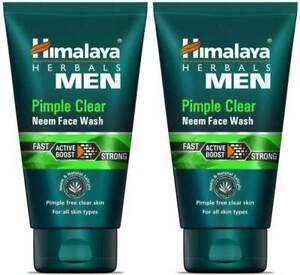 HIM Men Pimple Clear Neem , 50ml (Pack Of 2) Face Wash  (100 ml)