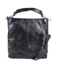 4ffc5ac155 Borsa pelle donna bora shopper donna a spalla e a tracolla nero made in  Italy
