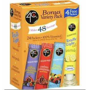 4C Totally Light 2Go Variety Pack Drink Mix Packets (24 Count Box) BB 2023