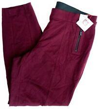 Anne Klein Women's 2X Troubador Seamed Zip Detail Pull On Skinny Pants Red Wine