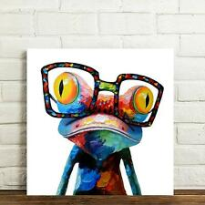 Unframed Canvas Prints Home Decor Wall Art Picture-Colorful Sunglasses Frog