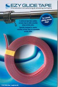 Ezyglide Tape - the permanent alternative to curtain pole lubricants sprays 3m