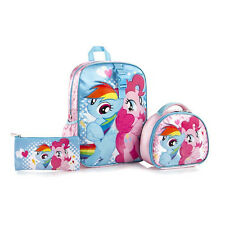 New Heys My Little Pony Kids Backpack with Lunch Bag and Pencil Case 15 Inch