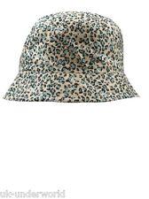 Ladies Leopard Print Bucket Bush Hat Outdoor Canvas Adults Festival Headwear Cap