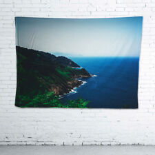 Beach Wall Hanging Vintage Tapestry, Fine Art Photographic Fabric, 200x140cm