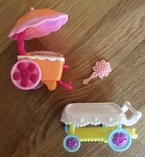 My Little Pony Cart Train Umbrella Ice Cream Stand Brush
