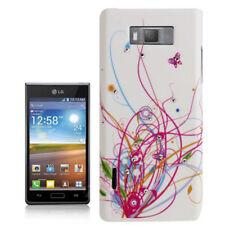 Coque rigide housse de protection strass pour LG p700 Optimus l7 motif coloré blanc étui Case