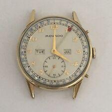 Vintage Movado Triple Date 14k Gold Filled Head Only