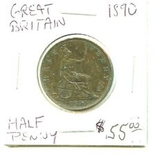 1890 - Great Britain - Half Penny - Very Nice Coin!!!