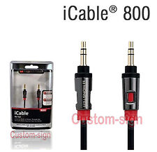 3ft Monster iCable 800 Cable iPhone 4 4S 3G Samsung galaxy iii ii Htc 3.5mm 3 ft