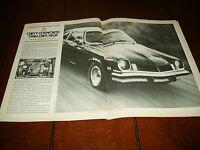 1974 CHEVROLET COSWORTH VEGA  ***ORIGINAL ARTICLE / SPECIFICATIONS***